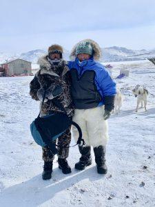 Amber met onze Eskimo