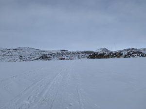 bevroren fjord
