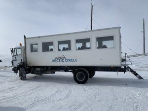 truck van een container